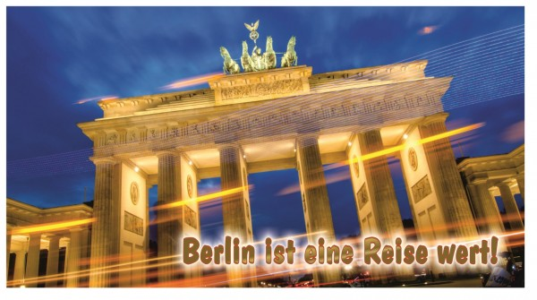 Xxl Postkarte Berlin Brandenburger Tor Reise