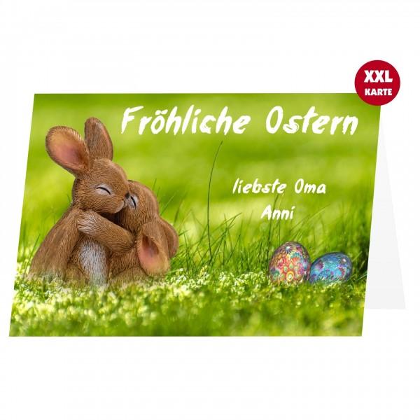 Osterkarte Grusskarte Osterhasen Text Vorlage