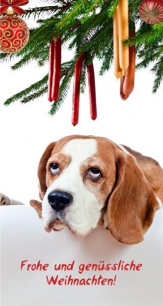 Hundewurst am Weihnachtsbaum