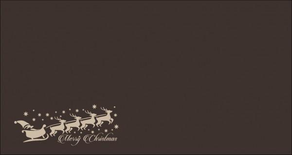 Schlitten linksbündig Merry Christmas