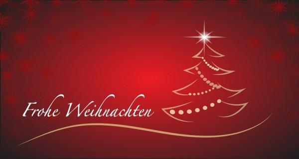 Frohe Weihnachten auf rotem Hintergrund