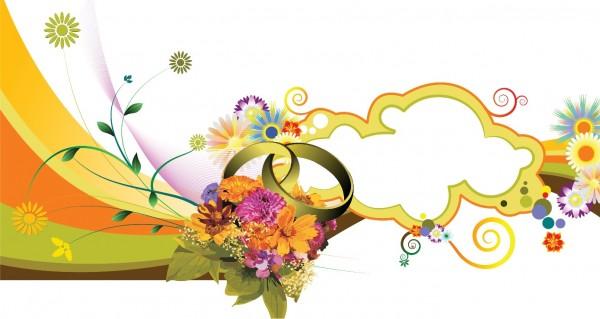 abstrakter Blumenstrauß