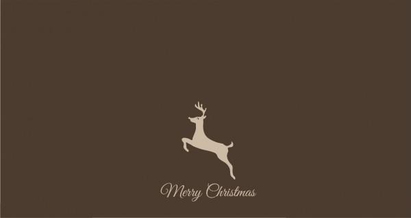 Merry Christmas Renntier mittig