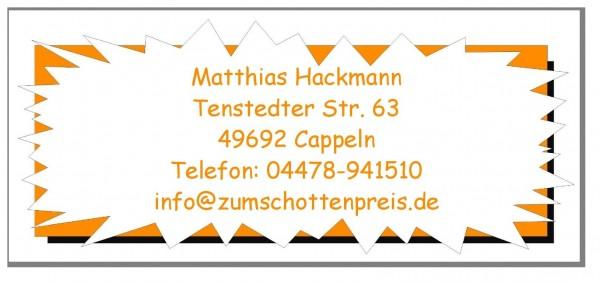 Aufkleber Adresse Gelb Orange Motiv