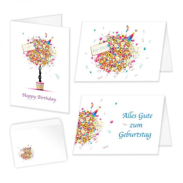 Geburtstagskarten Fuer Dich Gemischt Mit Umschlag