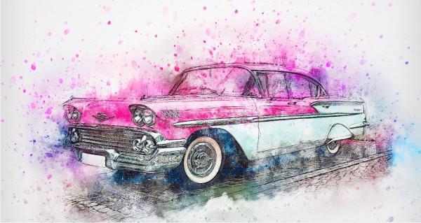 Oldsmobile Zeichnung