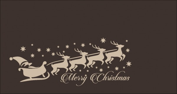Weihnachtsmannschlitten Merry Christmas