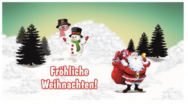Xxl Postkarte Weihnachten Schneelandschaft