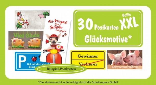 30 XXL Postkarten Glücksmotive