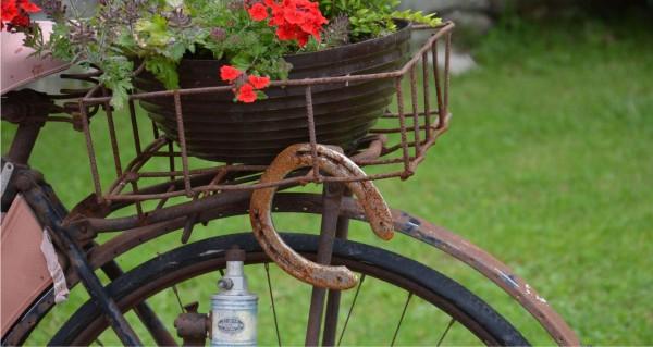 Hufeisem am Fahrradkorb