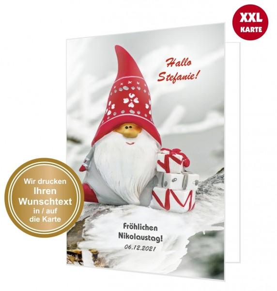 Große Nikolauskarte Nikolaus Mit Geschenke