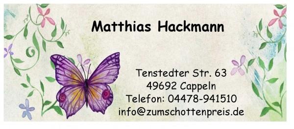 Adressaufkleber Ohne Rand Schmetterling
