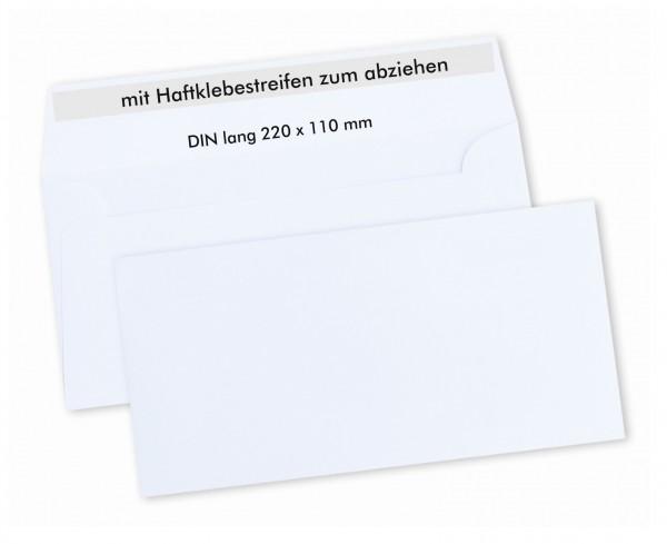 Edler Briefumschlag Din Lang Mit Haftklebeverschluss Weiß
