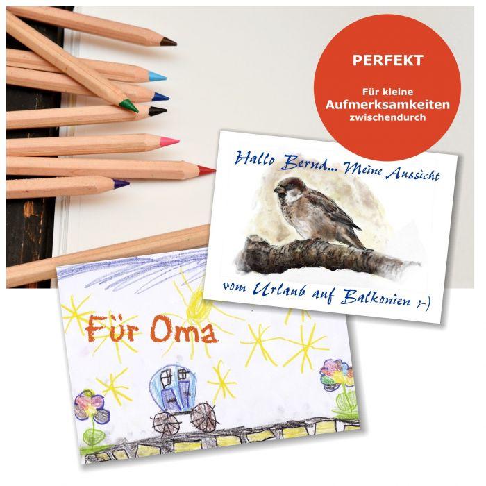 Postkarten Zum Selbst Gestalten, Beidseitig Blanko Weiss, Ohne Linien Für  Maximale Kreativität! Größe A6 (148 X 105 Mm)