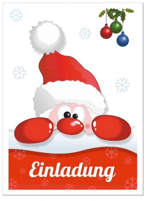 einladungskarte weihnachtsfeier lustig nikolaus witzig f r. Black Bedroom Furniture Sets. Home Design Ideas