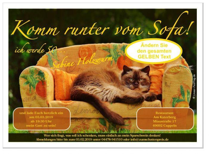 Lustige Und Witzige Einladungen Zum Geburtstag   Mit Wunschtext,  Personalisiert   Originell Und Individuell