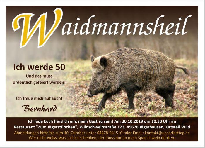 Geburtstagseinladungen Jager Waidmann Lustig Spruch 40 50 60 Text