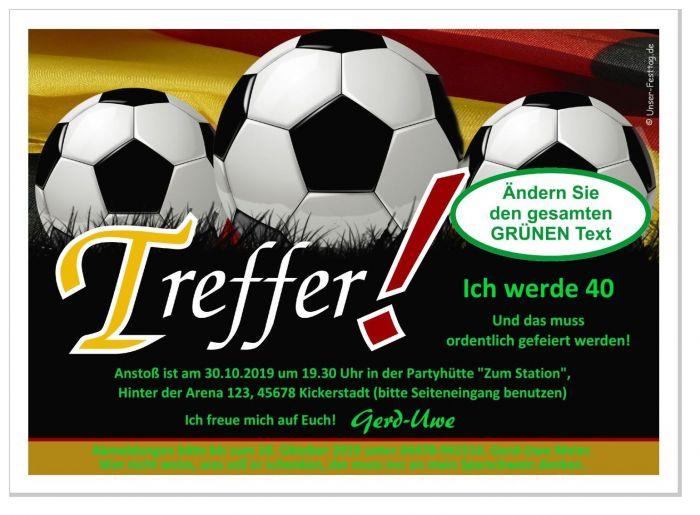 Originelle Einladungskarten Geburtstag Fussball Sport 11 18 20 30 40