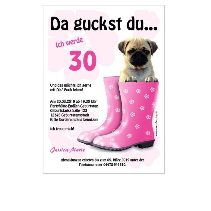 Details Zu Geburtstagseinladung Hund Lustig Witzig Eigener Text änderbar Gestalten 30 40 50