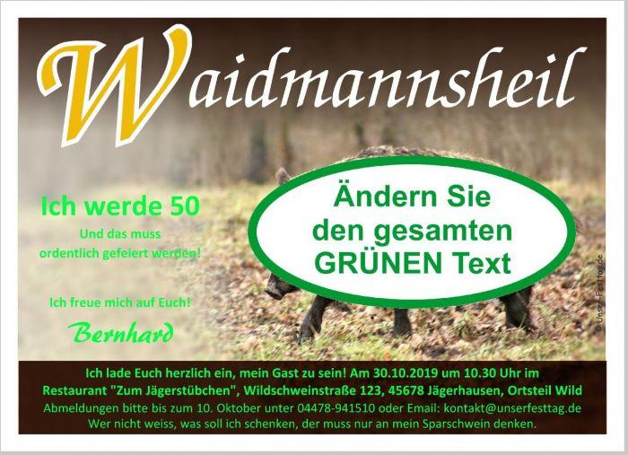 Einladungskarten Geburtstag Jagd Jager Prufung Originell Wunschtext