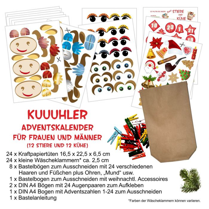 DIY Adventskalender zum basteln für Frauen Männer Mädchen und Jungs ...