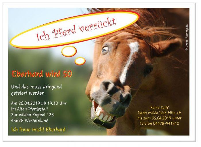 Einladungen Zum Geburtstag Mit Pferd Witzig Fur Kinder Madchen 60 70