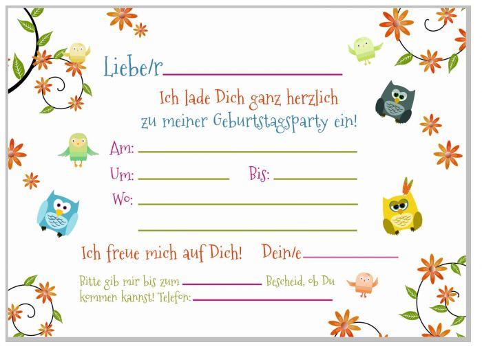 8 einladungskarten lustige eulen set kindergeburtstag