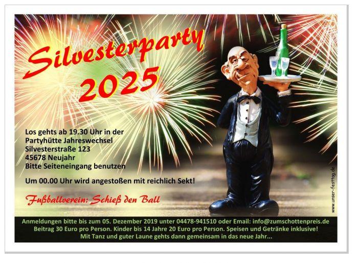 Einladung Silvester Einladungskarte Silvesterparty lustig IN JEDES ...