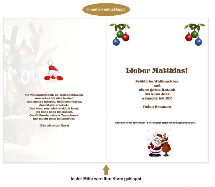 weihnachtskarten text